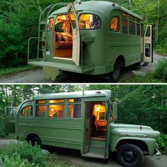 Charming Ideas for Modern Hippie Lifestyle Bus Life, Camper Life, School Bus Camper, Motorhome Vintage, Hippie Mode, Combi Wv, Tyni House, Camping Sauvage, Quitting Job