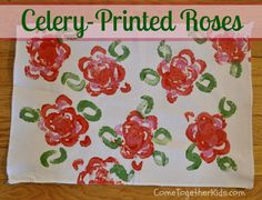 Come Together Kids: Celery Printed Roses   Finally something good from vegetables.