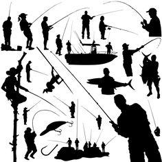 Fisherman Silhouettes [EPS File]