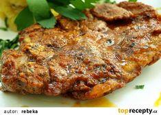 Čertovské řízečky recept - TopRecepty.cz Food 52, Pork, Food And Drink, Low Carb, Menu, Treats, Cooking, Recipes, Diet