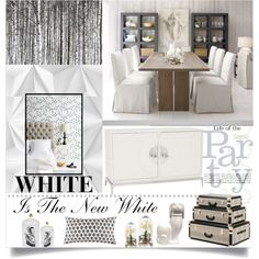 White Is The New White by loveartrecyclekardstock on Polyvore featuring polyvore, interior, interiors, interior design, home, home decor, interior decorating, Crate and Barrel, Jonathan Adler and Ethan Allen