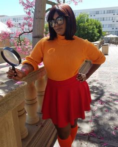 Halloween Costumes Glasses, Costumes With Glasses, Scooby Doo Halloween Costumes, Velma Costume, Daphne Costume, Black Girl Halloween Costume, Halloween Outfits, Halloween Ideas, Creepy Halloween