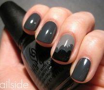 Black and gray nails