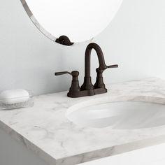 Pfister Courant In Widespread Handle Bathroom Faucet In Brushed - Kohler bathroom faucet bronze