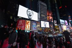 Clever Artist Makes Times Square Yawn By Playing 'Contagious' Videos On Loop