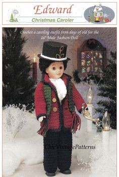 Christmas Caroler Doll Pattern .. Period by ChicVintagePatterns