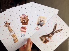 Купить Набор из 4-х постеров в детскую - украшения в детскую, постеры в детскую, милые картинки