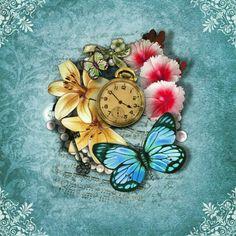 |Wallpaper| Buttlefies - Flowers - Watch  |=|  Like SZ ^-^