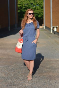 Dressing Out of Your Comfort Zone | Blue Marl Marks & Spencer Tunic Dress