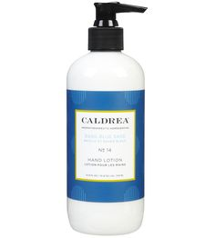 Caldrea All Natural Hand Lotion - all natural product made from shea butter, olive oil and aloe vera. It comes in Blue Sage or Ginger Pomelo.