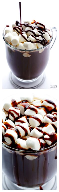 Homemade Hot Chocolate ~ A recipe for this classic drink. It's quick, simple, and oh-so-comforting. Homemade Hot Chocolate, Hot Chocolate Recipes, Chocolate Chocolate, Delicious Chocolate, Yummy Treats, Sweet Treats, Yummy Food, Cupcakes, Cakepops