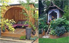 Sitzecke als Rückzugsort - Gartenlaube oder Hütte