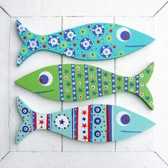 Fish Decorations Wooden Fish Decorations Far Out Fish Works . Fish Crafts, Beach Crafts, Diy And Crafts, Arts And Crafts, Folk Art Fish, Fish Art, Wood Fish, Fish Design, Driftwood Art