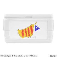 Patriotic Symbol, Catalonia freedom dove. Igloo Chest Cooler