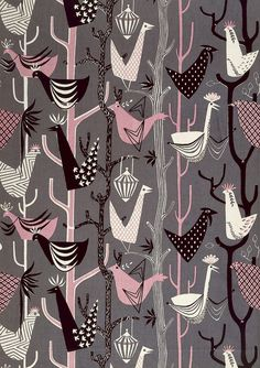 Vintage Fabrics ~ Modernist Textiles by Henry Moore Lucienne Day, Motifs Textiles, Vintage Textiles, Textile Prints, Textile Patterns, Textile Art, Pretty Patterns, Vintage Patterns, Fabric Wallpaper