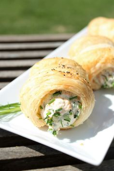 Tasty Pastry, Baking Recipes, Healthy Recipes, Savoury Baking, Cooking For Two, Seafood Recipes, Finger Foods, I Foods, Food Porn