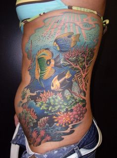 coral reef tattoo addition ideas