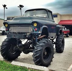Follow us to see more badass lifted, diesel or gas trucks. Cummins, Duramax or Powertroke -we love all! So, bring on the big Chevy, GMC, Ram, Dodge, Ford or Jeep trucks. I like to see them in the mud, on the dragstrip, or just cruising the street. 55 Chevy