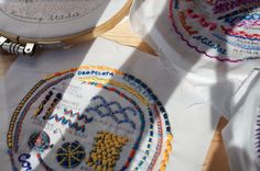 drop cloth: January Sampler of the Month- Couching!
