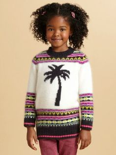 Juicy Couture - Toddler's & Little Girl's Palm Tree Fair Isle Sweater Juicy Couture, Fair Isle Pullover, Mini Me, My Princess, Saks Fifth Avenue, Christmas Sweaters, Little Girls, Knitting, Clothes