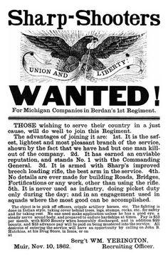 Berdan's Sharpshooters Civil War Recruitment Poster