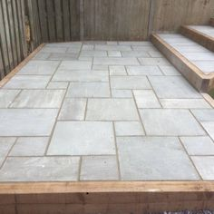Easypave Kandla Grey / Patio Paving Stones / Indian Sandstone / Patio Packs garden ideas garden stepping stones cottage garage ideas shed diy walkways diy Concrete Patios, Paving Stone Patio, Outdoor Paving, Sandstone Paving, Paving Stones, Flagstone Patio, Stone Patio Designs, Backyard Patio Designs, Backyard Landscaping