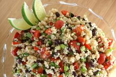 Very good; make ahead to blend flavors if poss./Nsj Mexican Quinoa Salad with cumin-lime dressing