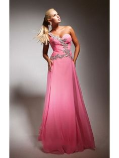 ONE SHOULDER SLEEVELESS BEADED SWEETHEART ZIPPER BACK A LINE LONG CHIFFON PROM DRESS
