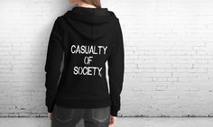 "5SOS 5 Seconds of Summer ""Casualty of Society"" Lyrical Black Hoodie by BrashDeVille on Etsy"