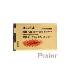 Gold Battery for Nokia BL-5J, 5228, 5230, 5800, N900, C3, X1-00, X1-01, X6, E52, E55, E61, E61i, E63, E71, E72, E90, N810, N97, Asha 201 , Asha 200, Asha 302 - 2450mAhLarge capacity battery compatible Gold Battery for Nokia BL-5J, 5228, 5230, 5800, N900, C3, X1-00, X1-01, X6, E52, E55, E61, E61i, E63, E71, E72, E90, N810 , N97, Asha 201, Asha 200, Asha 302 - 2450mAh. ...Gold mobile batteries are the best batteries on the market. It is because high quality of Japanese technology, offering…