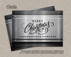 57 best business and corporate christmas cards images on pinterest construction business christmas cards with logo personalized corporate holiday cards diy printable company christmas greetings card reheart Choice Image