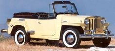 Saw a 1948 Willys Jeepster in powder blue with white interior at the Bluemont, VA fair recently.  Drooled.