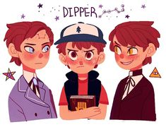 An Unofficial AU Blog for the Gravity Falls Fandom (imamong:   Dipper and Mabel)