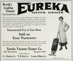 1924 Red and White (Tower)  Yearbook, University of Detroit, Eureka Vacuum Cleaner #vacuumcleaners