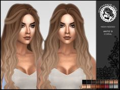The Sims Resource: Coral hair retextured by Stephanniie-Sims - Sims 4 Hairs - http://sims4hairs.com/the-sims-resource-coral-hair-retextured-by-stephanniie-sims/