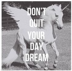 Don't Quit Your Day Dream quote dream faith believe unicorns daydream