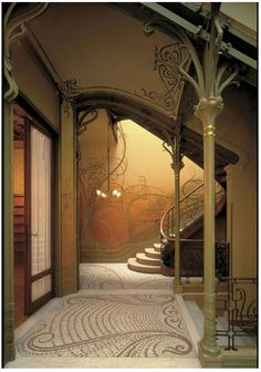 Stairway, Tassel House