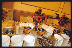 s'mores bar wedding | Our S'Mores Bar, we used clay flower pots! | Wedding Inspirations