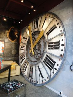 Hugo Cabret anyone? Large clock at the Saint-Ouen flea markets, Paris