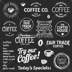 Coffee chalkboard text
