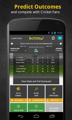 """""""...app adds a strong element of gamification to your love of cricket.""""  -- Business Today<p>""""...an app for armchair cricket fans...""""  -- The Guardian UK<p>""""With an app so feature rich, it is definitely a must have for cricket fans.""""  -- NextBigWhat<p>""""...an interesting new addition to the category of cricketing apps.""""  -- NDTV<p>""""...an all-in-one dose of everything cricket...""""  -- YourStory.com<p>""""...combines cricket and social media...""""  -- Times of India<p><br>The Big Toss: The Ul"""