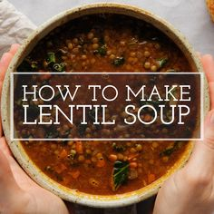 Vegetarian Lentil Soup, Lentil Soup Recipes, Healthy Soup Recipes, Mexican Food Recipes, Chicken Lentil Soup, Cooking Recipes, Tomatoes On Toast, Simply Recipes, Tomato Paste