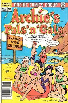 GCD :: Cover :: Archie's Pals 'n' Gals #171 Archie Comics Strips, Archie Comics Characters, Archie Comic Books, Vintage Comic Books, Vintage Comics, Old Comic Books, Book Characters, Archie Comics Riverdale, Riverdale Comic Book