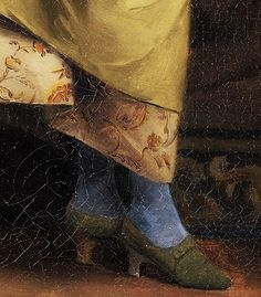 Theodore Jacques Ralli,1880 Blue Stockings, Haute Couture Designers, Embellished Shoes, Detail Art, Shoe Art, Painted Shoes, Historical Costume, Creative Inspiration, Devil