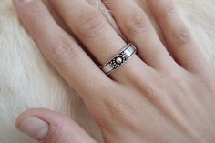 Minimalist Simple Simplistic Ring Layering Ring Stackable Ring minimalistic ring gypsy boho bohemian goth gothic punk Silver jewelry band by ShopSparrow