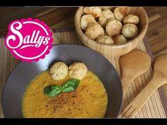 Sallys Rezepte - Karottensuppe mit Käsebällchen