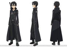 Kirito BlackWyrm Coat, all angles