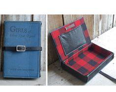handmade vintage book clutch