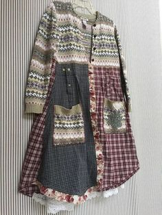 Long Sweater Coat, Old Sweater, Warm Sweaters, Sweater Jacket, Sewing Clothes, Diy Clothes, Stylish Clothes, Look Fashion, Diy Fashion