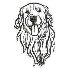Ace Points Embroidery Design: Dog Outlines 2.90 inches H x 1.86 inches W